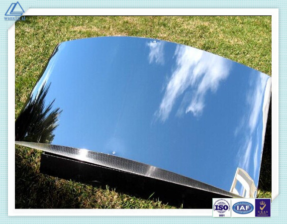 China Bright Polished Mirror Aluminum Coil Plate Sheet For