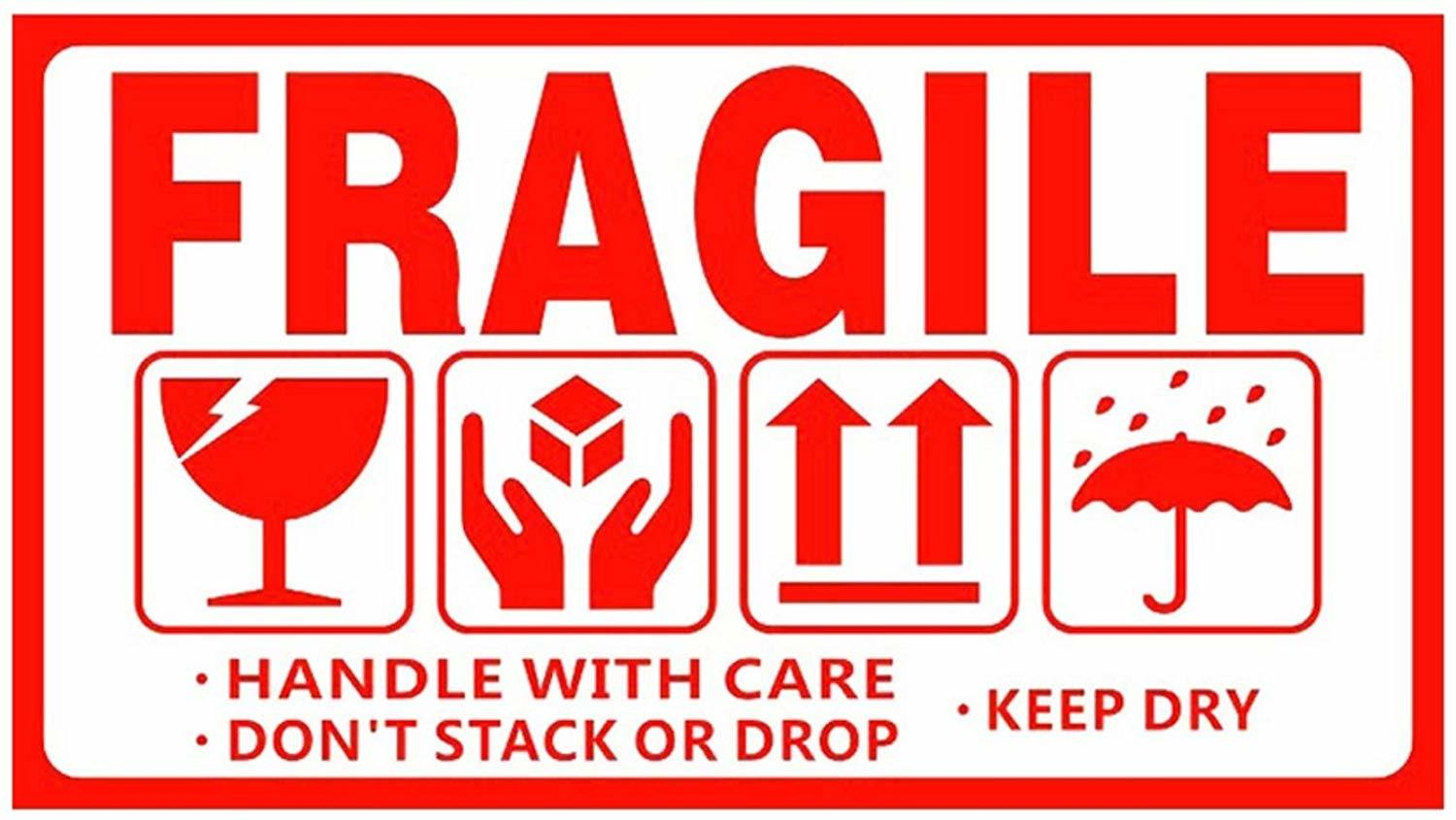 This is an image of Fragile Glass Labels Printable regarding electronics