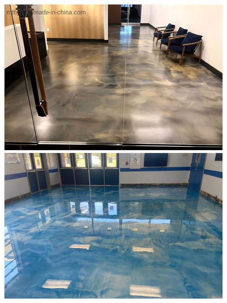 China Metallic 3D Effect Epoxy Floor Coating - China Metallic Epoxy Floor  Coat, Metallic Epoxy Floor Coating