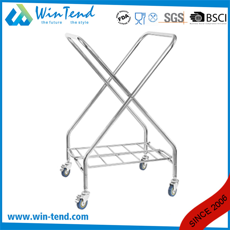 X Frame All Types of Room Service and Housekeeping Solid Hotel Linen Trolley with Good Prices pictures & photos