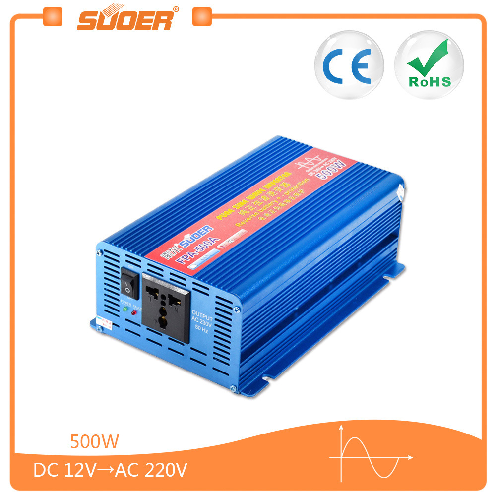 China Suoer Pure Sine Wave Inverter 500w 12v Dc To Ac Fpa Circuits Further Circuit 500a Power