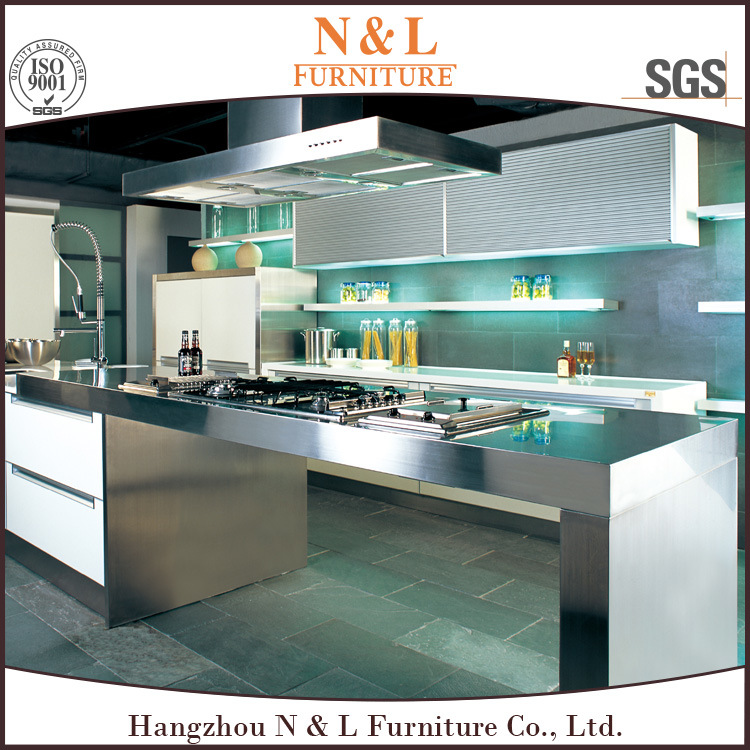 [Hot Item] N&L Modern Style Metal Stainless Steel Outdoor Kitchen Cabinet