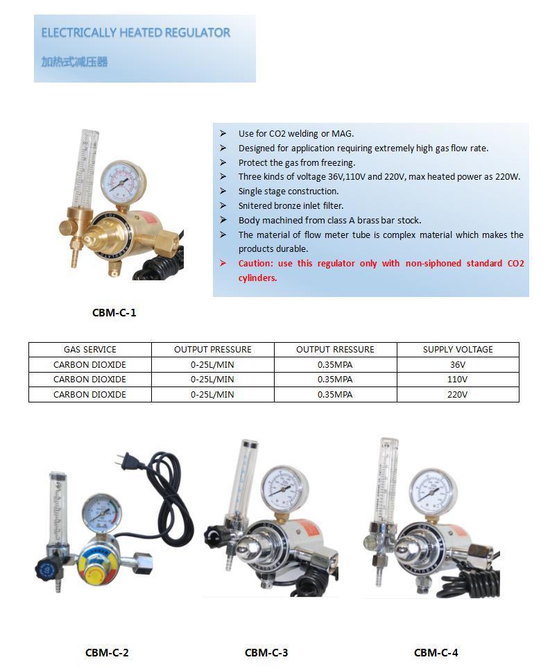 China Electrically Heated For Co2 Gas Regulator Cbm C Photos