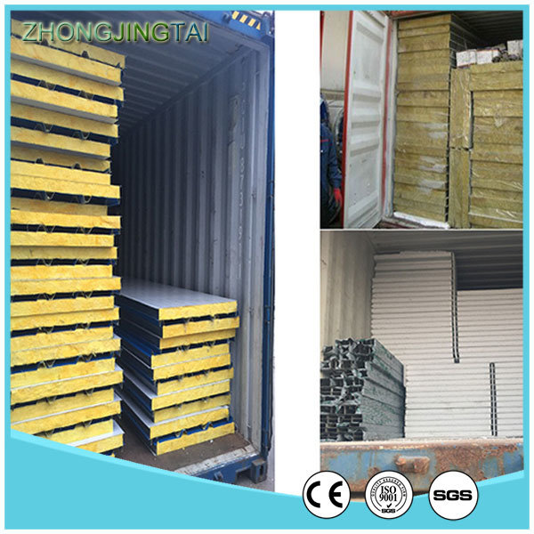Zjt High Quality Color Steel Glass Wool Sandwich Panel pictures & photos