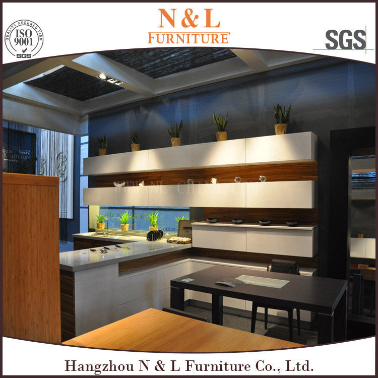 China New Model Kitchen Cabinet With Wood Veneer Kitchen Cabinet