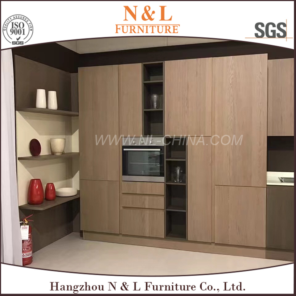 N&L High Quality Antique MDF PVC Kitchen Cabinet pictures & photos