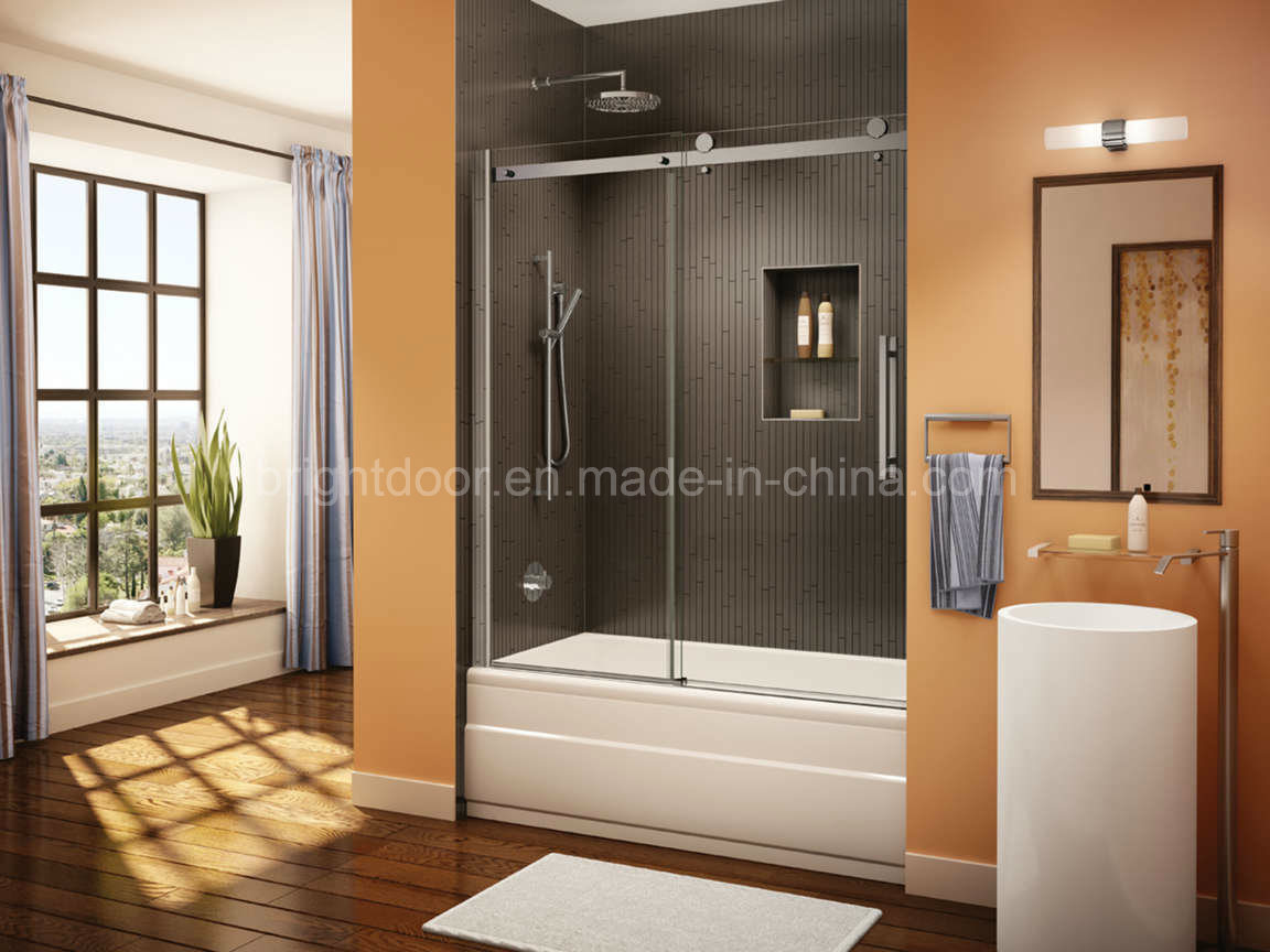 China Custom Frosted Glass Shower Doors Cost China Sliding Glass