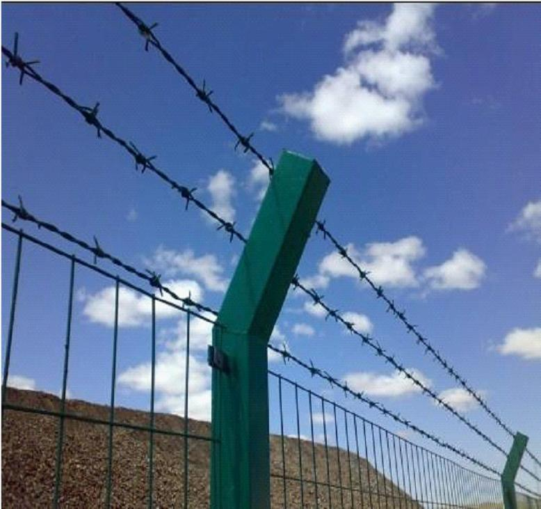 China 20kg/Roll Barbed Wire / PVC Coated Barbed Wire Fence Price ...