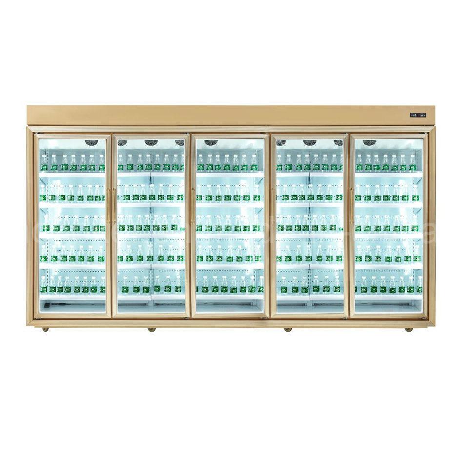 China Remote Compressor Type Multideck Glass Door Refrigerator For