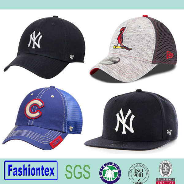 Wholeasale 6 Panel Embroidery Snapback Cap Mesh Baseball Cap Cotton Baseball Cap
