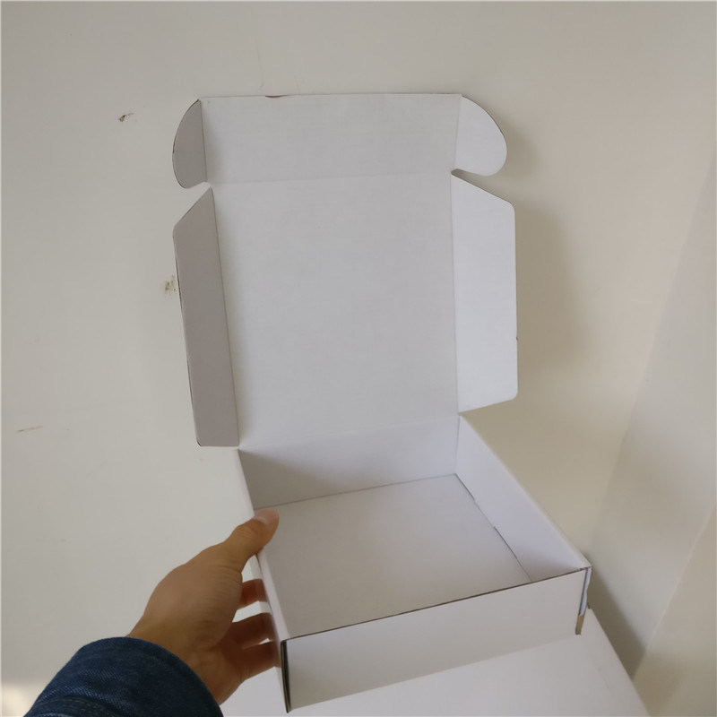 a831331338d 100PCS Lot Custom Thick White Corrugated Paper Shipping Mailer Boxes  Printed Logo Packaging Clothes Underwear Polo Shirt Box