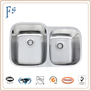 [Hot Item] Cupc Double Bowls Stainless Steel Kitchen Sink