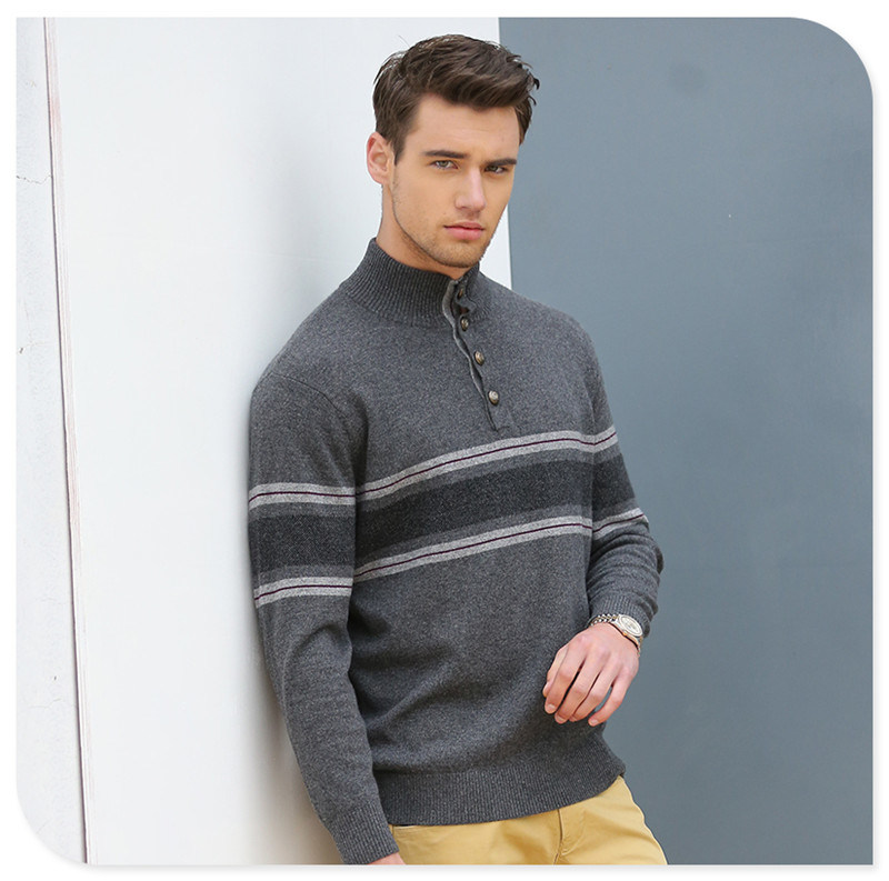 China Polo Neck Mens Cashmere Sweaterchristmas Sweater Knitting