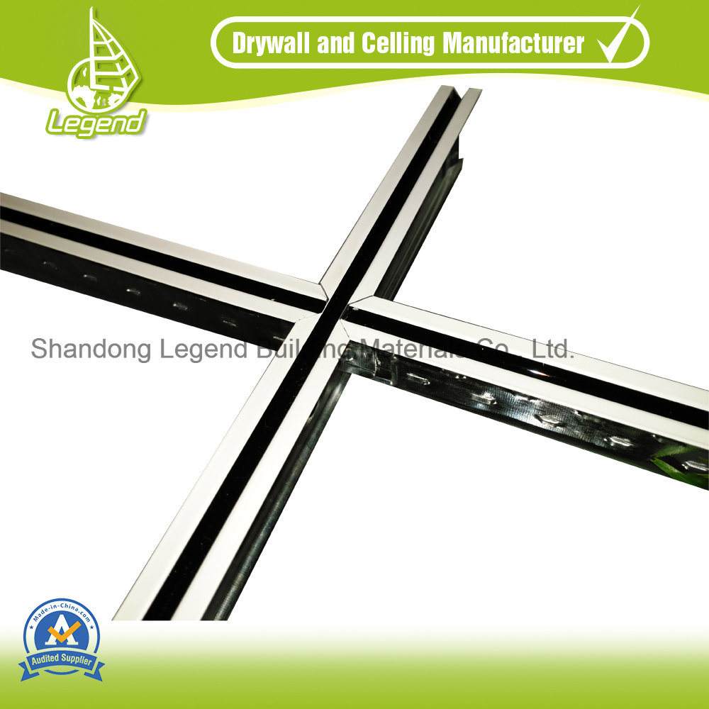 China 0 28 30mm Thickness And White Color Ceiling T Bar Grid Suspended Tee