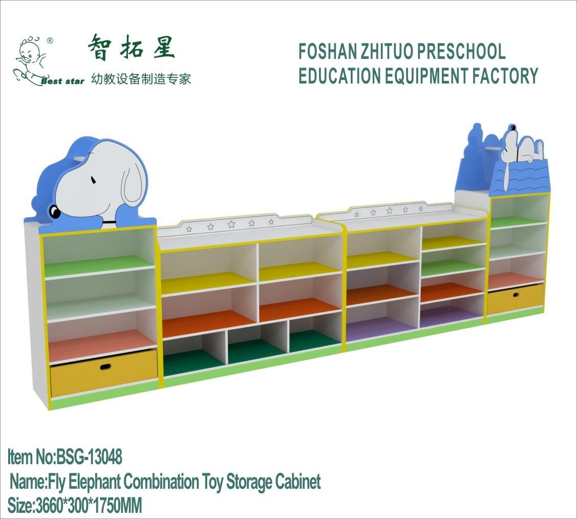 China Hot Sale Preschool Furniture Nursery Cabinet Kids Livening