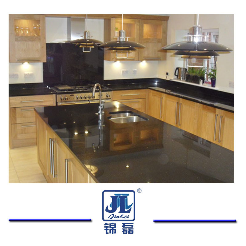 China Popular Polished Black Galaxy Granite For Kitchen Bathroom