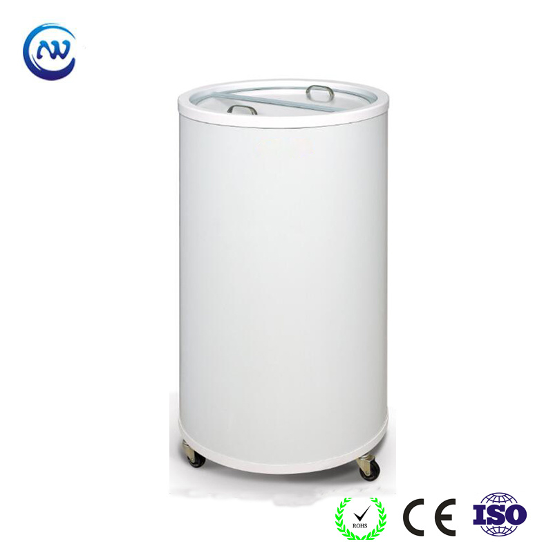 China Commercial Round Barrel Beverage Party Cooler Sc 50t Refrigerator Freezer