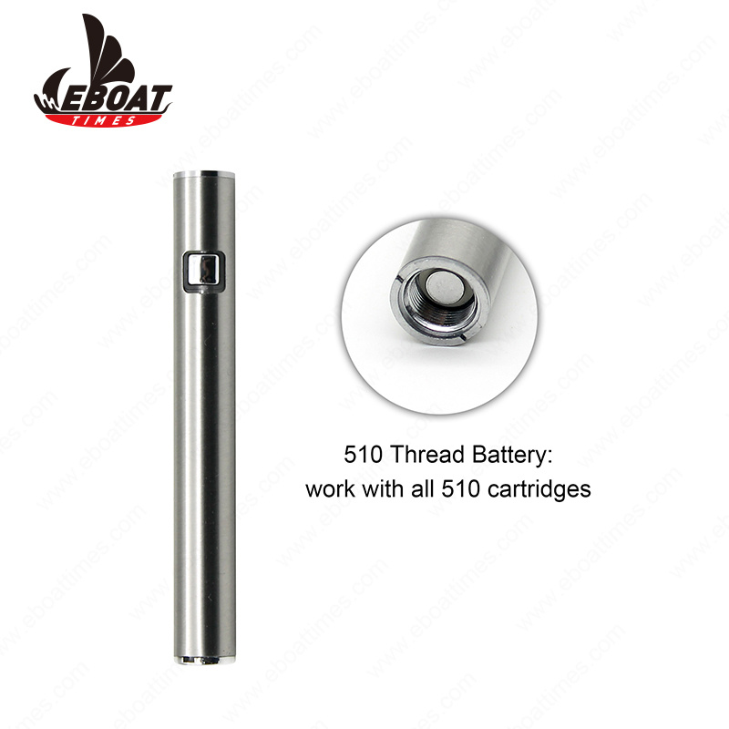 China Adjustable Voltage Button Control Vape Pen 510 Thread