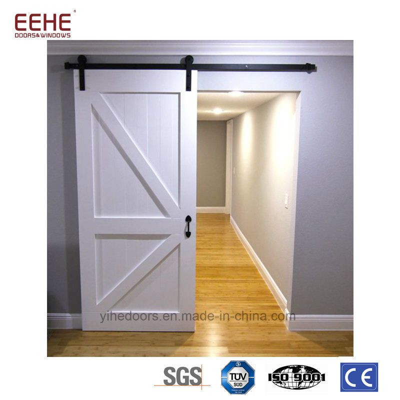 China Contemporary Interior Wood Barnpocket Door For Project