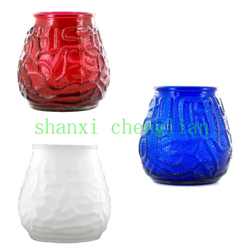 Machine-Made Colorful Votive Glass Candle Holder (BI-C03)