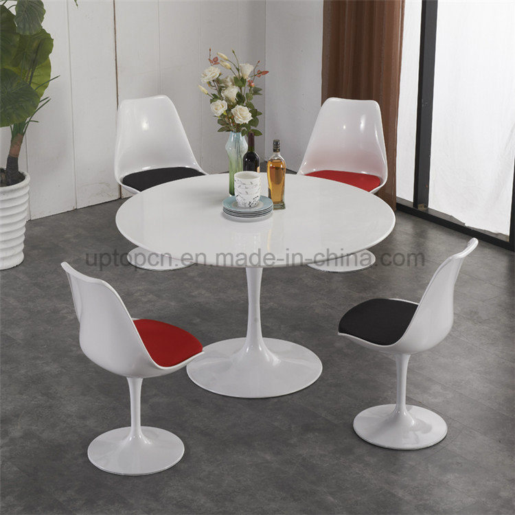 China Uptop Fashion White Metal Leg Tulip Table Chair Sp Ct662