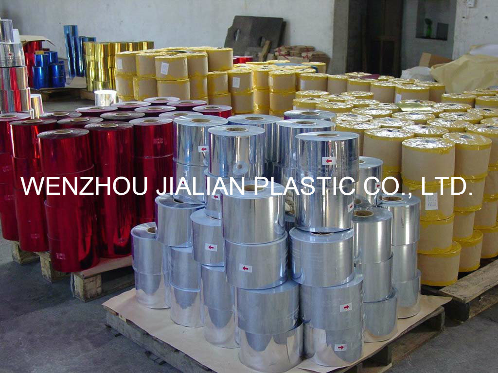 PVC Metalized Film / Silver/ Gold/ Colorful Film/ PVC Coating Film for Garland Decorations