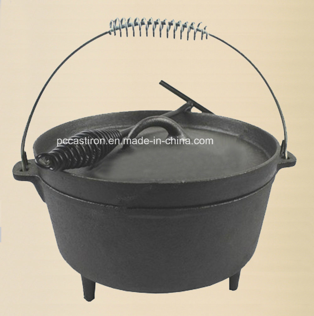 Preseasoned Cast Iron Camping BBQ Skillet Dia 30cm pictures & photos