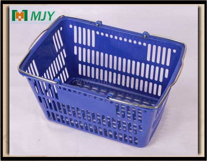 Supermarket Plastic Shopping Basket Mjy-Tb23