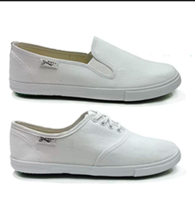 China White Canvas Shoes for Sport