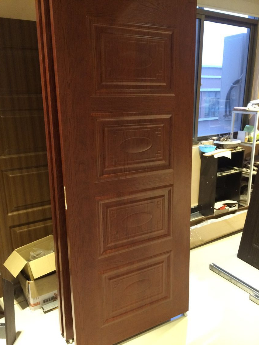 China Waterproof Bathroom Interior Pvc Glass Latest Design Flush