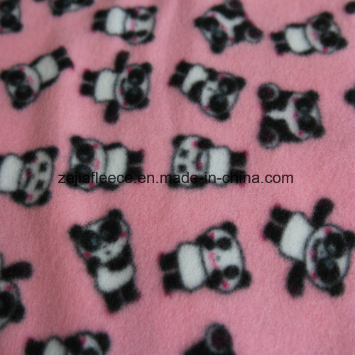 Two Sides Brushed Polar Fleece with Carton Print