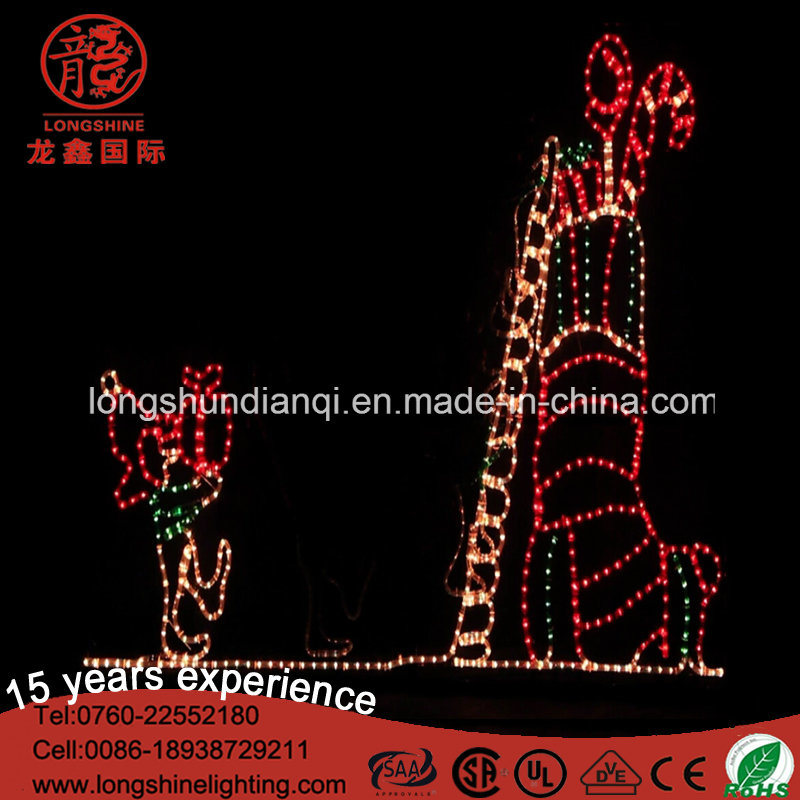 led animated elf and stocking rope motif lights for outdoor christmas decoration - Animated Christmas Elves Decorations