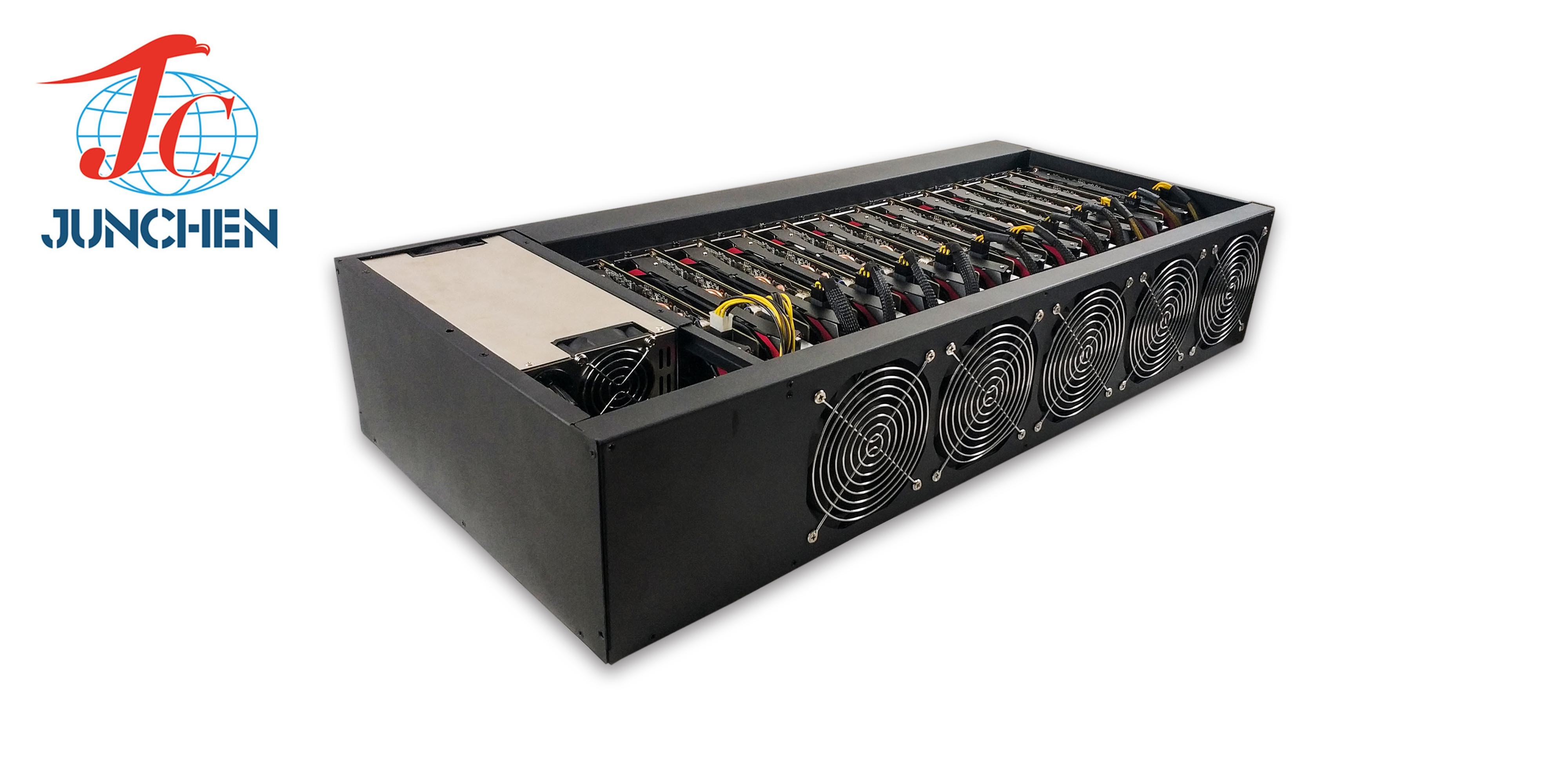 [Hot Item] CPU Miner 2018 Mining Chassis Graphics Card Support 12GPU  Bitcoin Case Mining Rig
