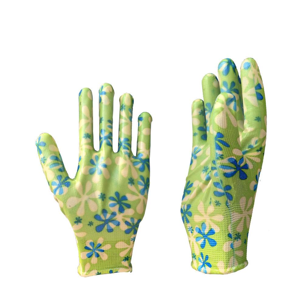 eeec1f98f [Hot Item] Nitrile Smooth Garden Work Gloves Customizable Half Coated  Nitrile Industry