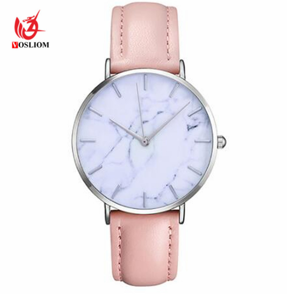 Hot Item Promotional Charming Marble Face Watch Popular Vogue Quartz Fashion Ladies Watches V492