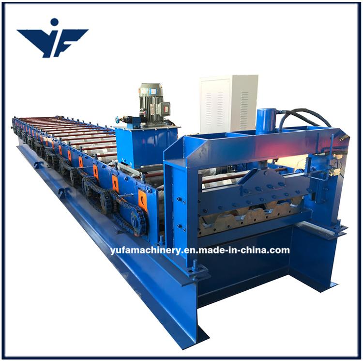 China Floor Deck Roll Metal Forming Floor Tile Making Machine