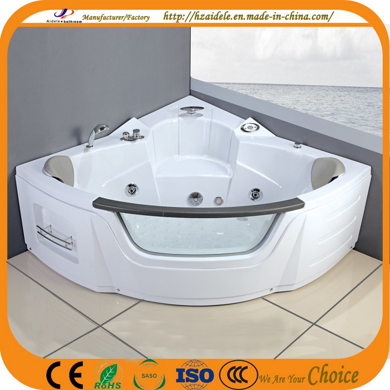 China Double People Corner Indoor Jacuzzi Bathtub for Shower (CL-350 ...