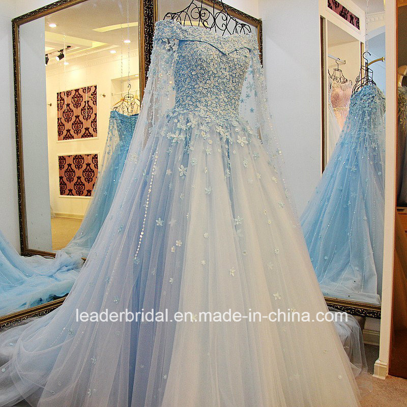 China Luxury Bridal Ball Gowns Lace Flowers Pearls Wedding Dresses ...