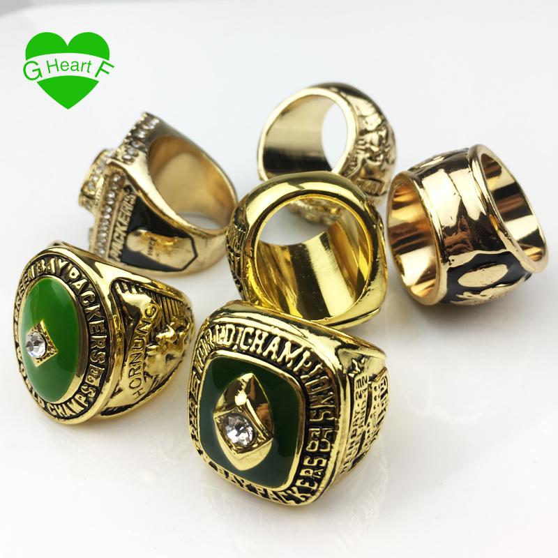 ce7b81b9c China 6PCS/Set Free Shipping High Quality 1961 1965 1966 1967 1996 2010  Green Bay Packers Championship Ring Set Christmas Gift Ring - China Sport  Ring, NFL ...