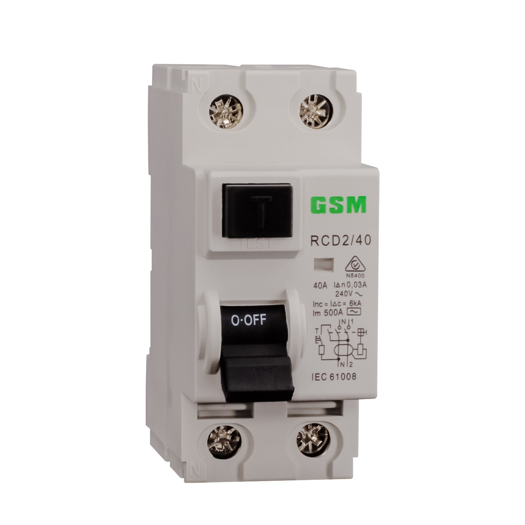 China Residual Current Circuit Breakers Rccb Gsl1 Id 63 2p Off Miniature Breaker Module View