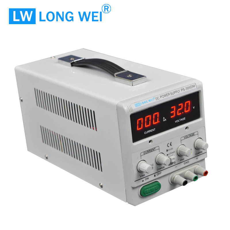 150W PS305dm Adjustable Regulated Stabilizer DC Power Supply with Alligator Test Lead Set