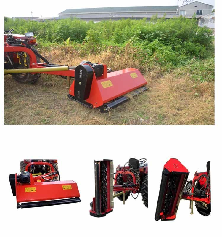 China Compact Tractor Side Flail Mower Use Double Hammer Blades