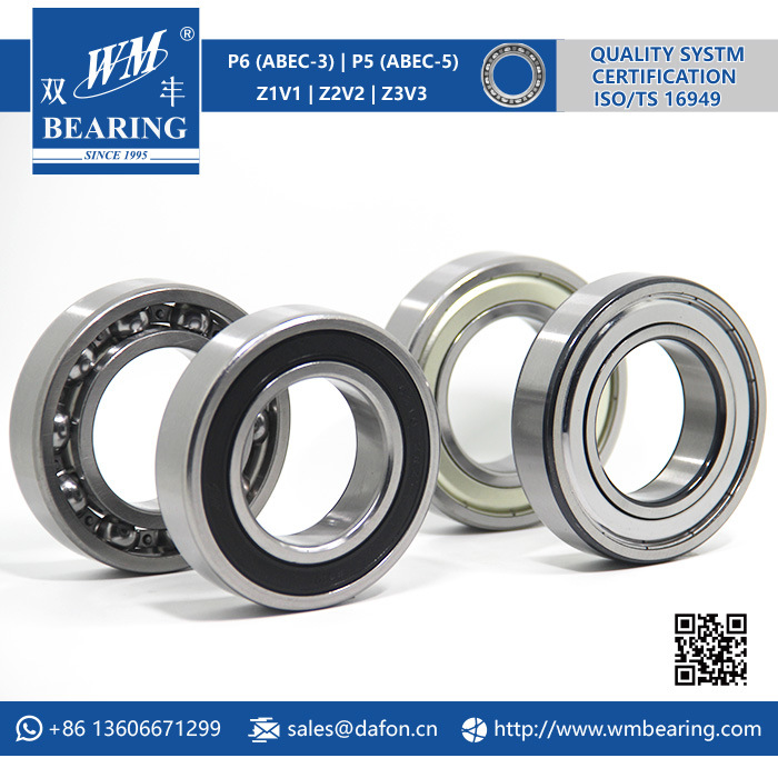 RADIAL BALL BEARING 6206-2RSEMQ WITH 2 RUBBER SEALS ELECTRIC MOTOR QUALITY