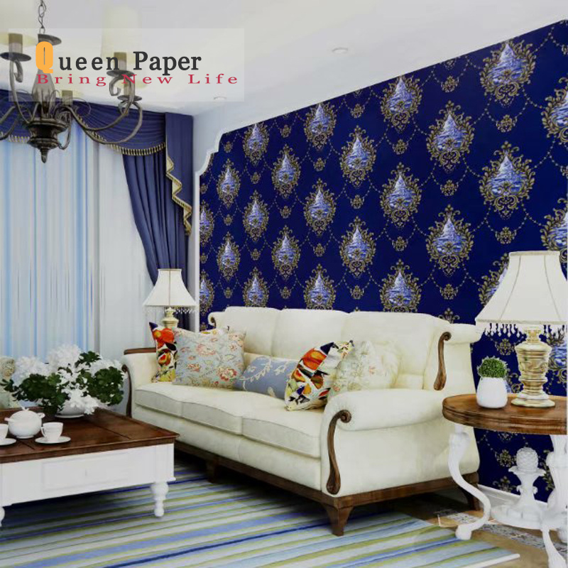 China Pvc 3d Wallpaper Wall Coating 3d Home Decor European Style China Wallpaper Vinyl Waterproof Home Decoration Paper