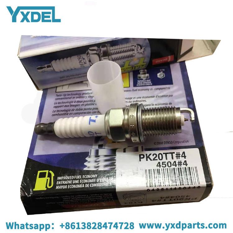 Pack of 4 4504 PK20TT Spark Plugs Denso