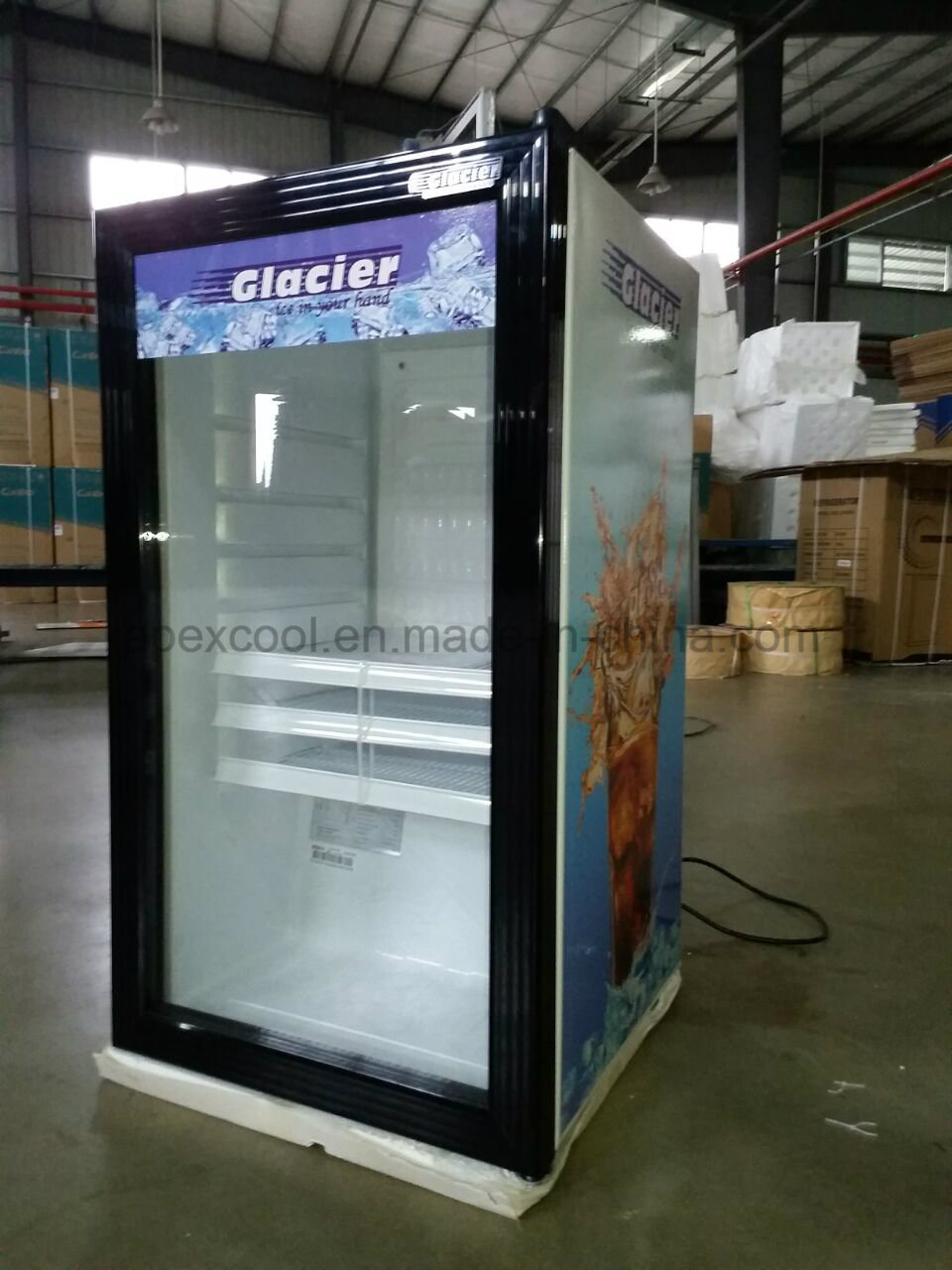 China 100l Glass Door Mini Bar Fridge For Hotel Photos Pictures