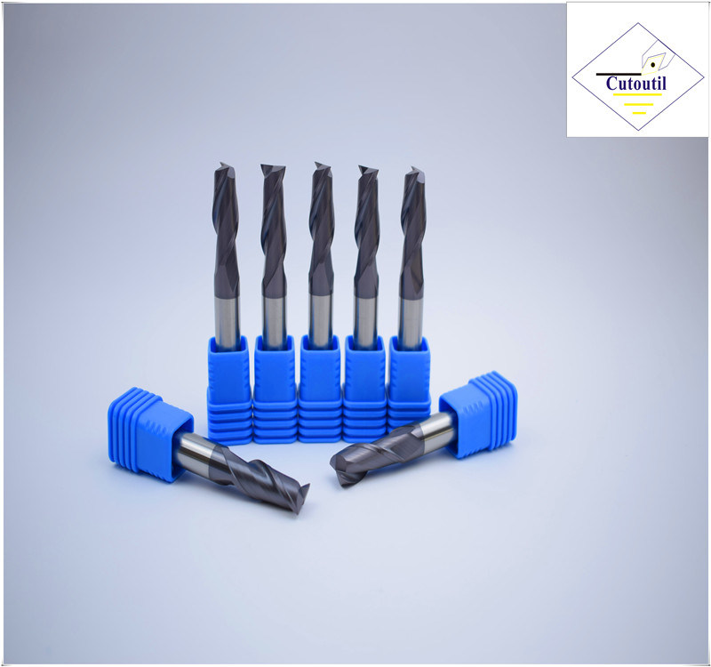 Cutoutil HRC45 Tialn Coating   D4*11*50  2f/4f for Steel CNC Machining Part   Square  Carbide End Mills Tools