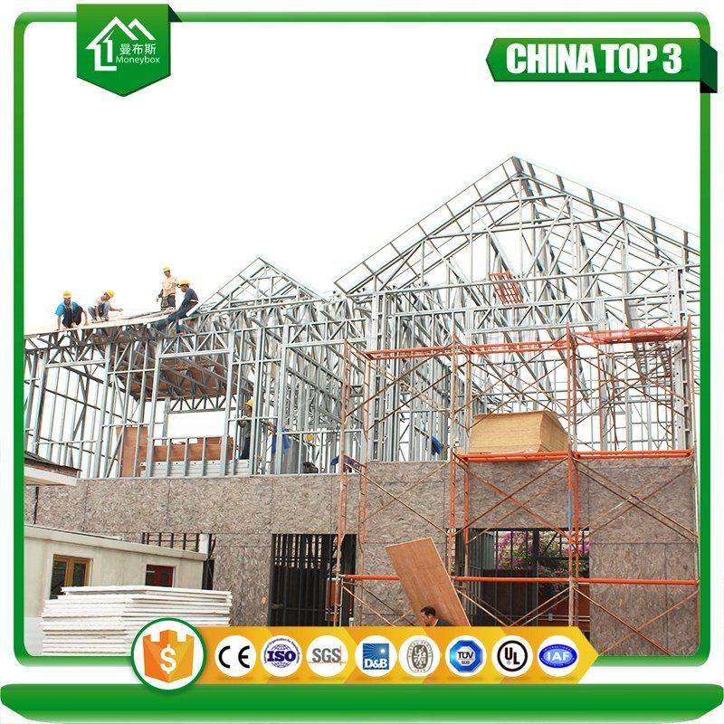 China Prefabricated Modular Light Metal Lightweight Steel Frame Stanchion Wall Hip Roof Construction China Light Steel Villa Modular Villa