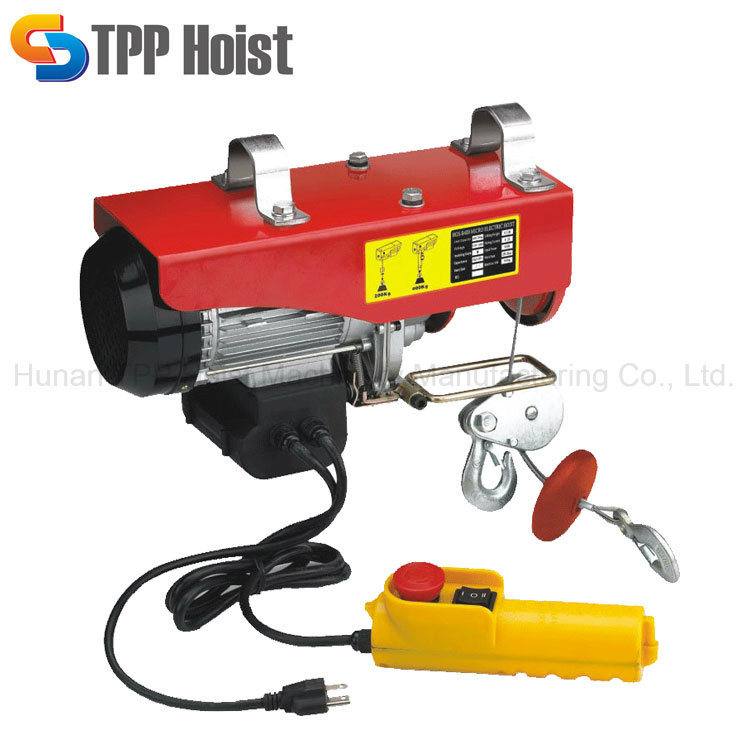 China Portable Small Electrical Wire Rope Pulling Hoist 500kg Price ...
