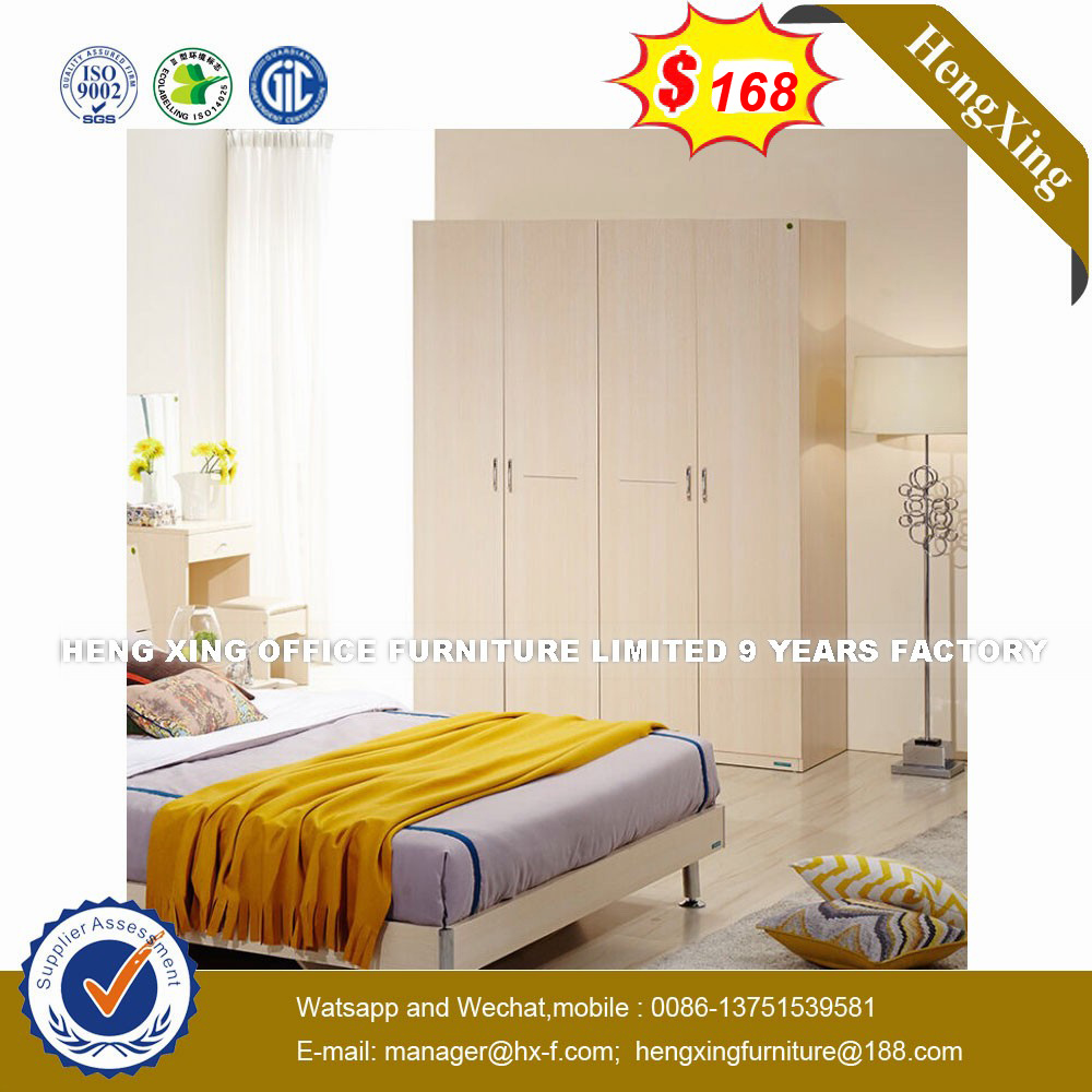 China Modern Decorative Glow Clack Wooden Bedroom Furniture Bed (HX ...
